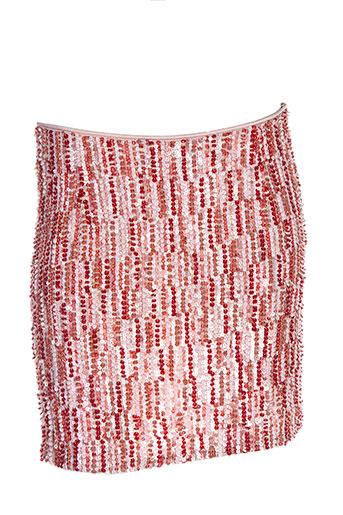 Jupe mi-longue rose AMBRE BABZOE pour femme