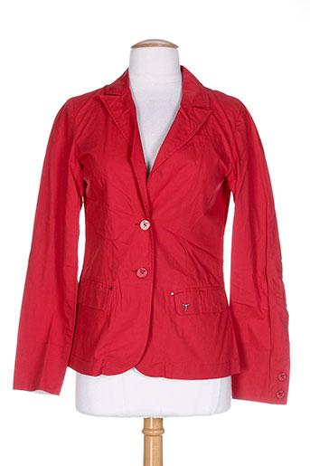 so soon vestes femme de couleur rouge
