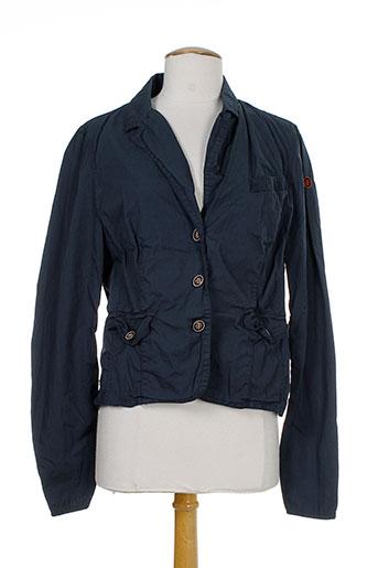 gamp vestes femme de couleur bleu
