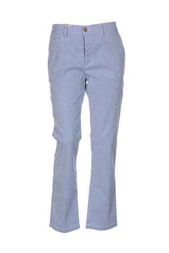 true nyc pantalons homme de couleur bleu