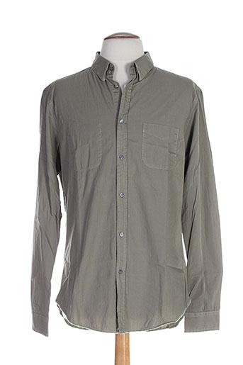 memento clothing chemises homme de couleur vert
