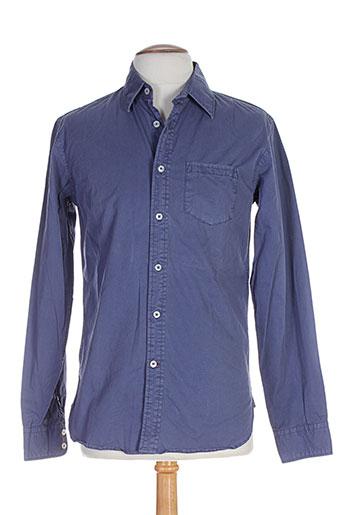 jachs chemises homme de couleur bleu