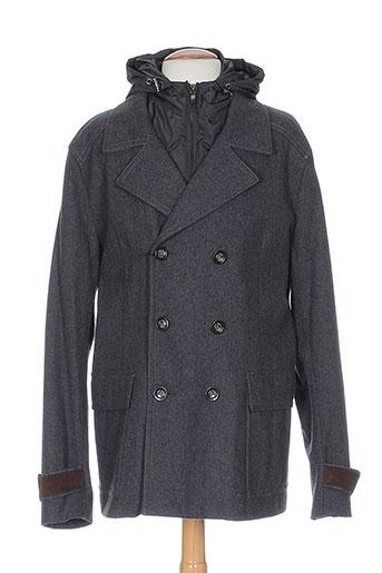 paolo pecora manteaux homme de couleur gris