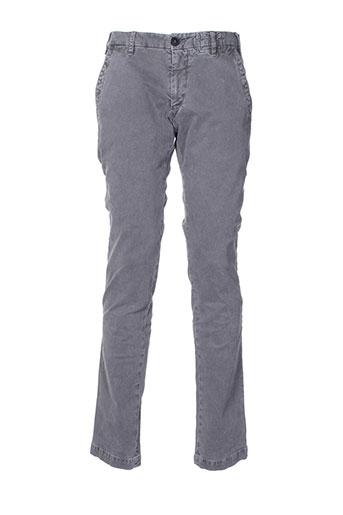 monocrom pantalons homme de couleur gris