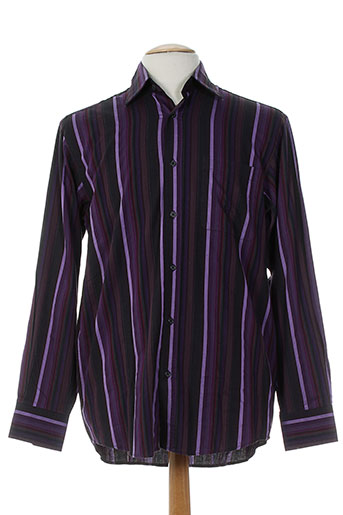 pre end chemises homme de couleur violet