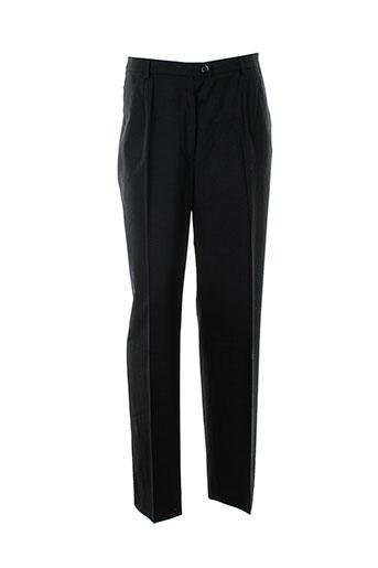 bernard zins pantalons femme de couleur noir