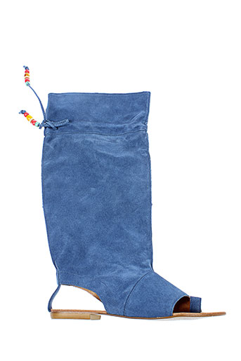 v et m bottes femme de couleur bleu