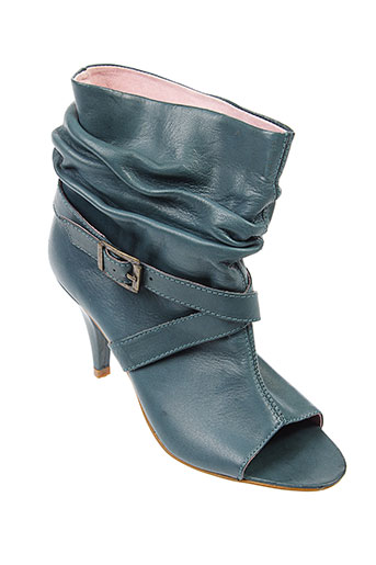 adequat chaussures femme de couleur bleu