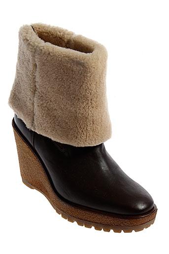 pare et gabia bottes femme de couleur marron