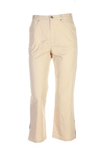 lucia pantacourts femme de couleur beige