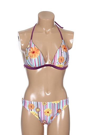 luna maillots de bain femme de couleur violet