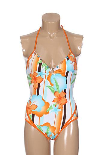 luna mare maillots de bain femme de couleur orange