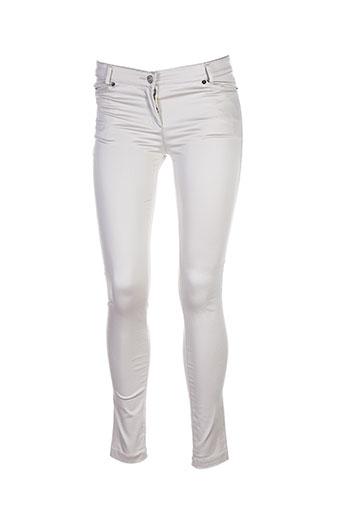 tricot chic pantalons femme de couleur beige