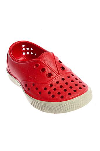 native chaussures garçon de couleur rouge