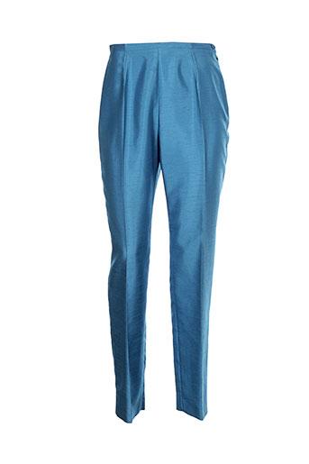 villa bleue pantalons femme de couleur bleu