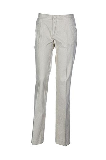 Pantalon casual beige ET VOUS pour femme
