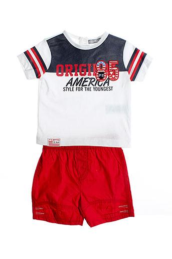 p et tites et canailles t et shirt et pantalon garcon de couleur rouge