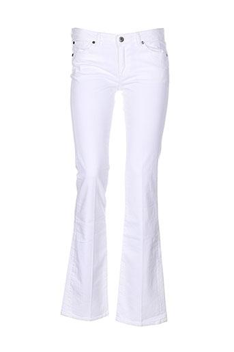 renhsen jeans femme de couleur blanc