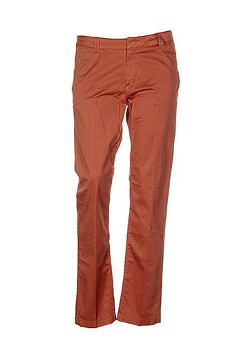 renhsen pantalons femme de couleur orange
