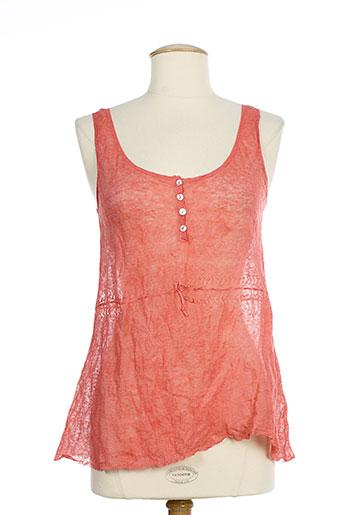 et compagnie chemises femme de couleur rouge