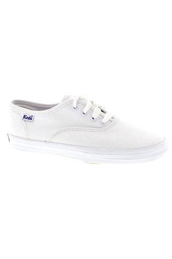 keds chaussures fille de couleur blanc