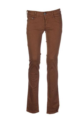 cimarron pantalons femme de couleur marron