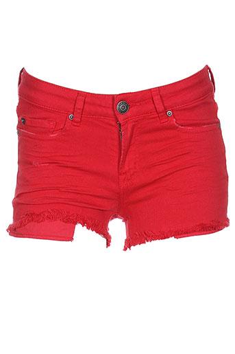heartless jeans shorts / bermudas femme de couleur rouge