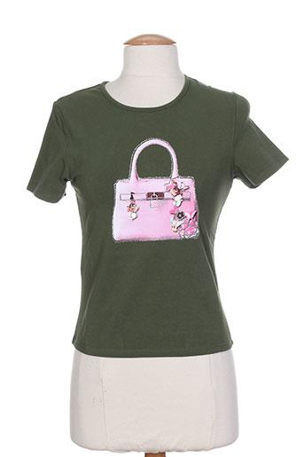 just for you t-shirts femme de couleur vert