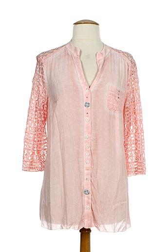 bocetto chemises femme de couleur rose