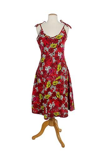 kaliyog robes femme de couleur rouge