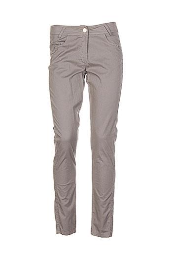 bocetto pantalons femme de couleur beige