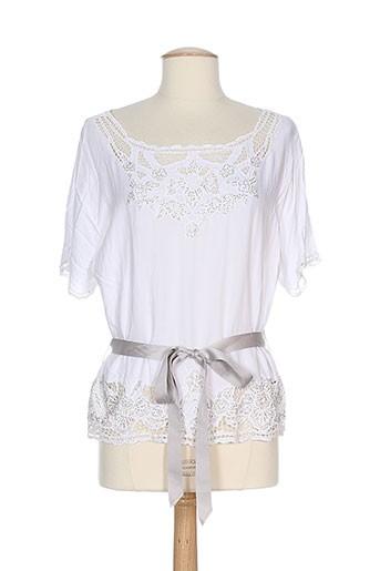 ambre babzoe t et shirts et tops femme de couleur blanc