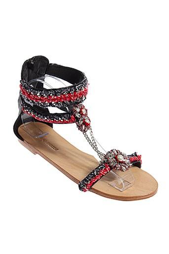 ambre et babzoe sandales et nu et pieds femme de couleur noir