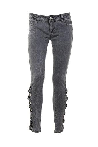 blue rags pantalons femme de couleur gris
