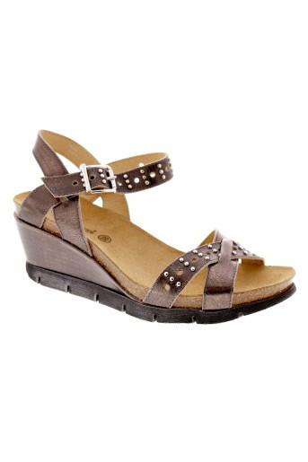 coco et et et abricot sandales et nu et pieds femme de couleur marron