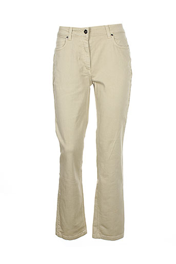 claude et de et saivre pantalons et decontractes femme de couleur beige