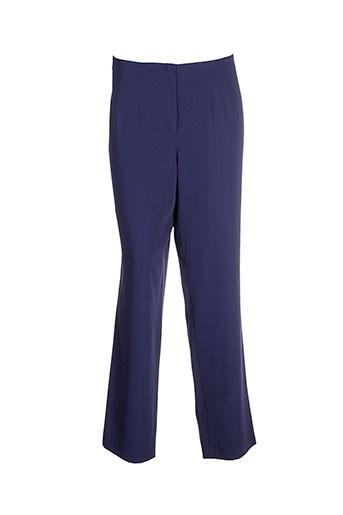lucia pantalons femme de couleur bleu