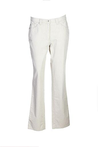faber pantalons femme de couleur beige