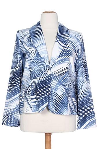 c.s creations vestes femme de couleur bleu