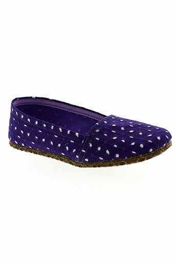 pifer pantoufle femme de couleur violet
