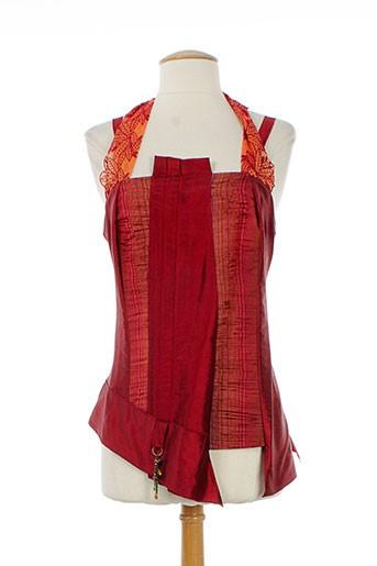 saona chemises femme de couleur rouge