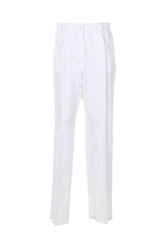 caroline rohmer pantalons femme de couleur blanc