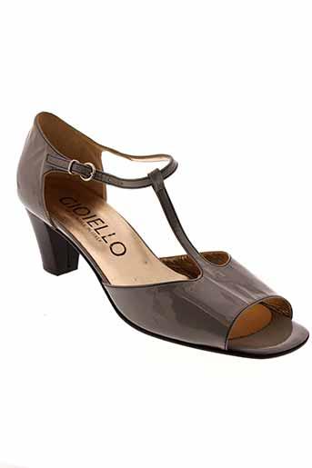 gioiello sandales et nu et pieds femme de couleur gris