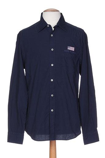 north sails chemises homme de couleur bleu