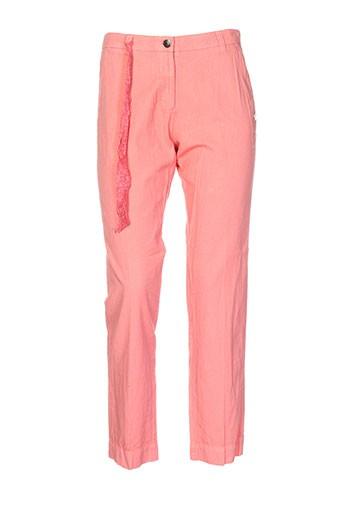 stella forest pantalons femme de couleur orange