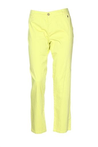 one step pantalons femme de couleur vert