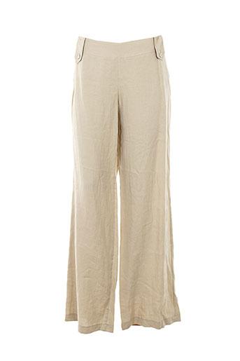 cinoche pantalons femme de couleur beige