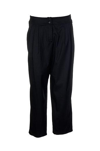 lino factory pantalons femme de couleur noir