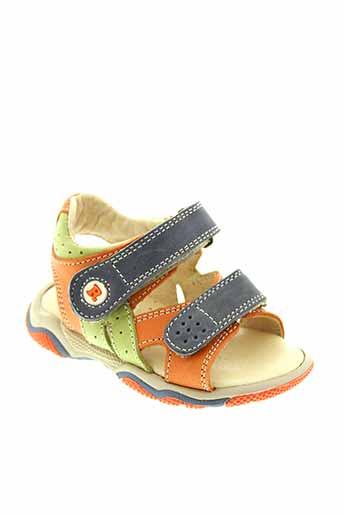 romagnoli sandales et nu et pieds garcon de couleur orange