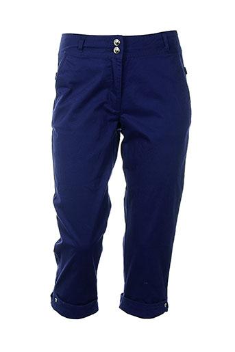 thalassa pantacourts femme de couleur bleu